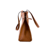 Big Brown Vintage PU Leather Magnetic Closure Tote Bag