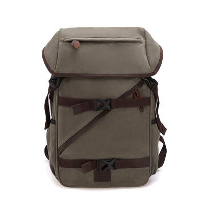 Durable Canvas Travel Rucksack Backpack for Men