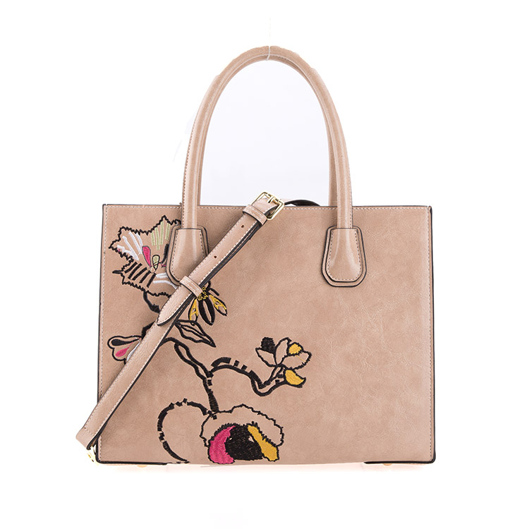Embroidery Flower Elegant PU Fashion Ladies Bag